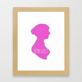 WWJAD? Framed Art Print