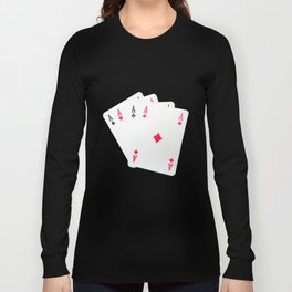 Poker of Aces Long Sleeve T-shirt