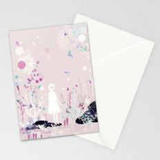 geometric rain Stationery Cards