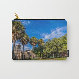 mission concepcion with palm trees Carry-All Pouch