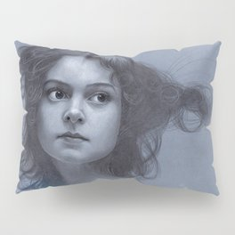 Behind greyness - pencil drawing on paperboard Pillow Sham