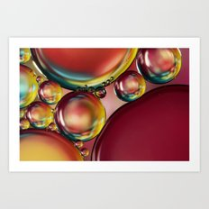 Abstract Oil Drops III Art Print
