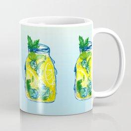 Watercolor - Iced Lemon Mint Tea Coffee Mug