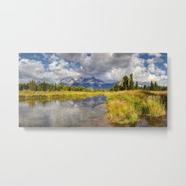 The Grand Tetons Panorama Metal Print