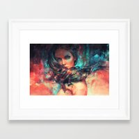 alicexz Framed Art Prints featuring Islands by Alice X. Zhang
