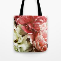 peonies Tote Bags featuring Peonies by Elliott's Location Photography