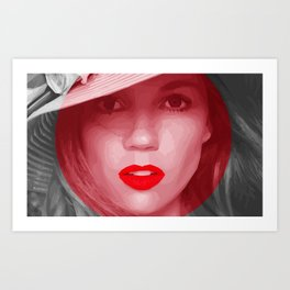 RED Dot Art Print