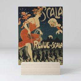 Affiche scala   la revue de la scala. 1905  Mini Art Print