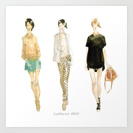 Fashion Sketch - Philip Lim Spring 2011 Art Print