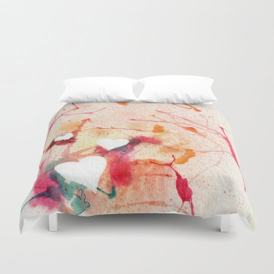 Warms My Heart Duvet Cover