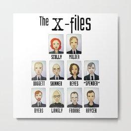X FILES Metal Print