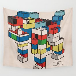 Block Hound Wall Tapestry