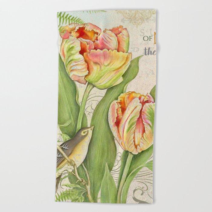 Vintage Flowers #26 Beach Towel