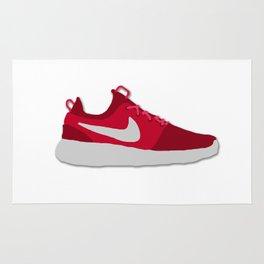 Roshe One Red Swoosh Sneaker Rug