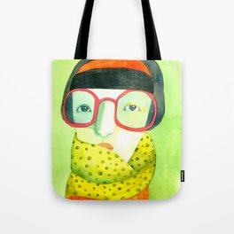Portrait with glasses Tote Bag