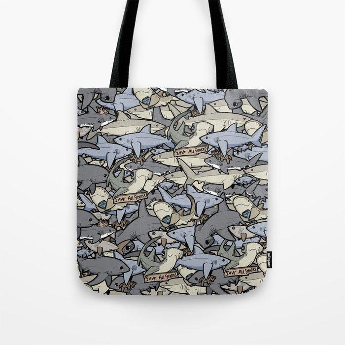 Save ALL Sharks! Umhängetasche