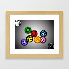 Lantern Pins Framed Art Print