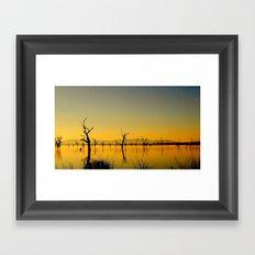 Scupltures in the Lake Framed Art Print