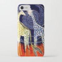 giraffes iPhone & iPod Cases featuring Giraffes by Ša Rūnė