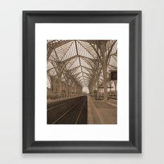 gare do oriente Framed Art Print