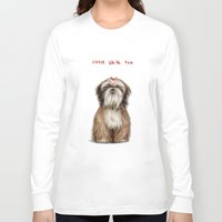 shih tzu Long Sleeve T-shirts featuring Shih Tzu by Katherine Coulton
