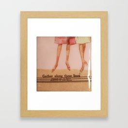 yellow dress  Framed Art Print