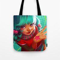 loish Tote Bags featuring Bubblegum by loish
