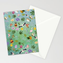 Flamingo Pineapple Pot Stationery Cards