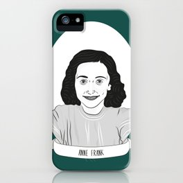 Anne Frank Illustrated Portrait iPhone Case