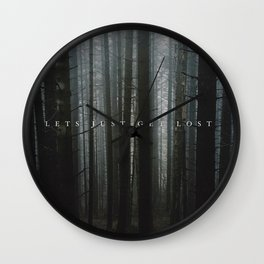 let's just get lost Wall Clock
