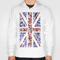 union jack Hoodies featuring Union Jack by David T Eagles