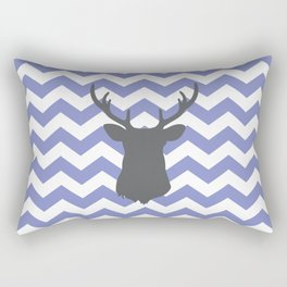 Purple chevron deer Rectangular Pillow