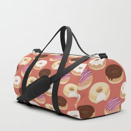 Donuts (Red) Duffle Bag