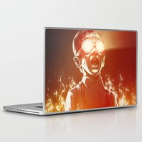 tumblr Laptop & iPad Skins featuring FIREEE! by Dr. Lukas Brezak