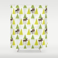 Moose Family 3 Shower Curtain