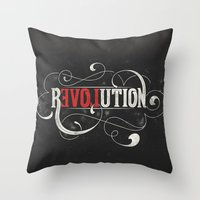 revolution Throw Pillows featuring Revolution by Mobe13