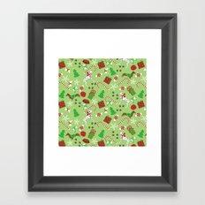 Christmas Pups Framed Art Print