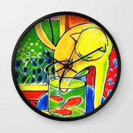 Henri Matisse - Le Chat Aux Poissons Rouges 1914 Wall Clock