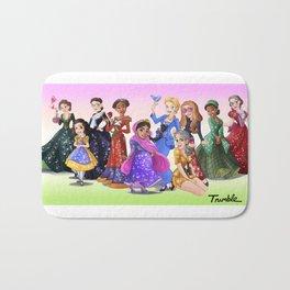 """Ten Real-World Princesses Who Don't Need Disney Glitter"" Trumble Cartoon Bath Mat"