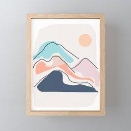 Minimalistic Landscape III Framed Mini Art Print
