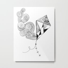 Kite in light wind Metal Print