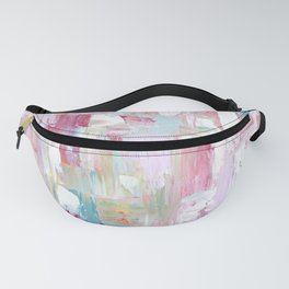 Pink Abstract Painting Fanny Pack