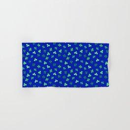 Clover Leaves Pattern on Royal Blue Hand & Bath Towel