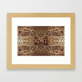 Rose Gold King Framed Art Print