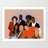 fresh prince Art Prints featuring The Fresh Prince by Jara Montez