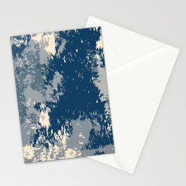 Blue Beige Watercolor Stationery Cards
