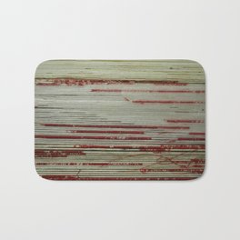 Nest - wrapped string red and white Bath Mat