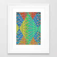 diamonds Framed Art Prints featuring Diamonds by elikourY