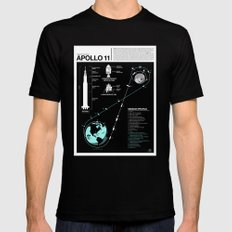 Apollo 11 Mission Diagram Black LARGE Mens Fitted Tee