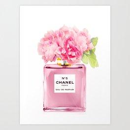 Pink Perfume Fashion 1 Art Print